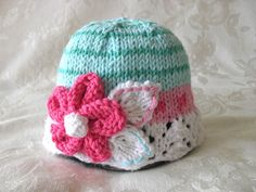 Baby Hats Knitting Knit Baby Hat Knitted Lace Baby Hats Knit Baby Hat  Cotton…