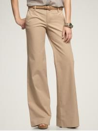 ATs must-have: khakis. Love the wide leg...looks better with sneaks.