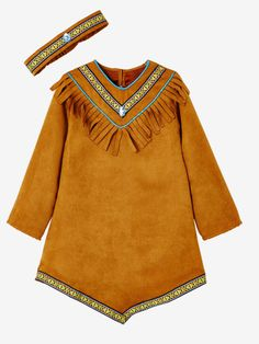This costume is going to turn your little girl into a true Indian! With its suede-effect dress, and its fringes, and a ribbon, this Indian girl costume will be Red Indian Costume, Indian Girl Costumes, Knight Outfit, Sport Outfit, Wellies Boots, Indian Girls, Indian Dresses, Jacket Dress, Shirt Shop