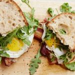 The ultimate egg sandwich from Chef Zoe Nathan of Huckleberry fame. We tried it out over at the goop Cookbook Club. on goop.com. http://goop.com/recipes/hucks-fried-egg-sandwich/