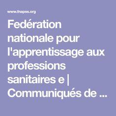 Fedération nationale pour l'apprentissage aux professions sanitaires e | Communiqués de presse