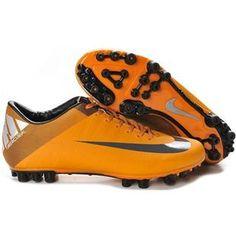 http://www.asneakers4u.com New Discount Nike Jnr Mercurial Victory II AG Artificial Grass Soccer Cleats Granite/Orange/Peel