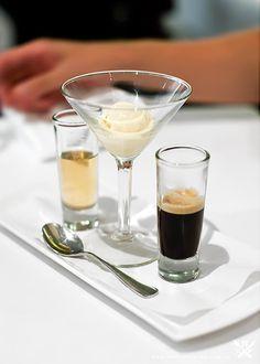 Affogato: Vanilla ice cream with a shot of Espresso and Frangelico