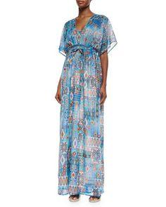 Multi-Print Maxi Dress, Women\'s by Neiman Marcus at Neiman Marcus.
