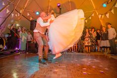 Dancing the night away - Karen and Geoff show off their moves in two of our stunning giant that tipis.  Captured by Andrew Wade Photography  #Tipiwedding  See more of this wedding at http://weddings.andrewwadephotography.com/sami-tipi/