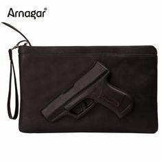 3D Print Gun Bag women messenger bags Designer clutch purse famous brand women bag ladies Envelope Clutches With Strap or Chain #CLICK! #clothing, #shoes, #jewelry, #women, #men