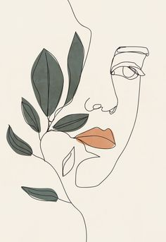 Modern woman line drawing printable wall art, plant poster, flower sketch print, minimalist wall art, bedroom wall decor Art And Illustration, Illustrations Posters, Animal Illustrations, Watercolor Illustration, Portrait Illustration, Arte Inspo, Kunst Inspo, Minimal Art, Flower Sketches