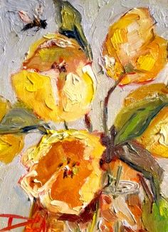 Yellow Tulip, painting by artist Delilah Smith