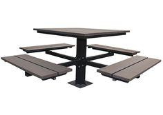 Sunperk Site Furnishings, Single Pedestal Picnic Table SPP-104