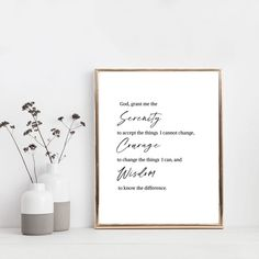 Serenity Prayer Print Reinhold Niebuhr sobriety gift | Etsy Joan Of Arc Quotes, Foyer Wall Decor, Reinhold Niebuhr, Sobriety Gifts, Online Printing Companies, Family Print, Affordable Wall Art, Foyer Design, Serenity Prayer