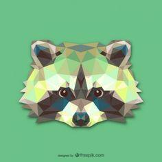 Vector cabeza de mapache …