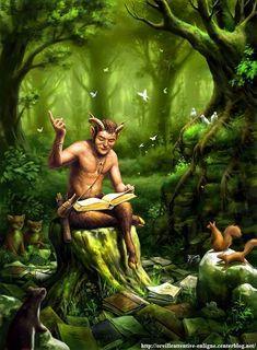 Artist: Urs Hagen I love fantasy Fantasy Forest, Fantasy World, Fantasy Art, Magical Creatures, Fantasy Creatures, Woodland Creatures, The Magic Faraway Tree, Arte Obscura, Moon Goddess