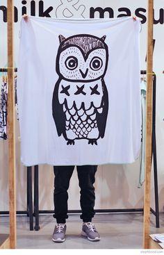 Bondville: Milk & Masuki owl blanket
