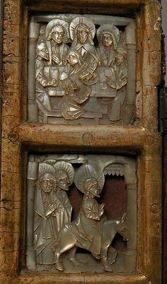 Triptych with the Passion of Christ Statues, Crucifixion Of Jesus, European Paintings, Religious Icons, Sacred Art, Triptych, Mother Pearl, Metropolitan Museum, Pottery Art