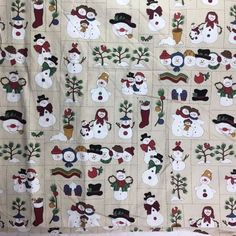 "Snowman Christmas Crafting Fabric 2 Yd + 28 in of 44"" Wide Pre-washed #Unbranded"
