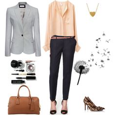Add some soft to a tough business day, created by chloe-ho on Polyvore