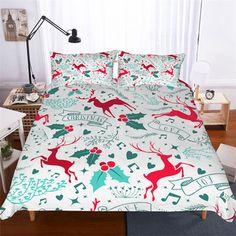 Duvet Cover Set Christmas Bed Set Festival Decoration Bedding Cartoon Elk Bed Sets for Kids/ Adult Polyester Breathable Bedding Sets Bed Cover Sets, Bed Covers, Bed Sets, Geometric Bedding, 3d Bedding Sets, Christmas Bedding, Bedclothes, Home Textile, Luxury Bedding