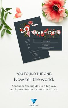 Vistaprint save the date in Melbourne
