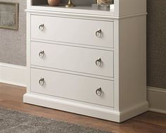 Hammary Hidden Treasures White 3 Drawer Bookcase Base | 090-600B