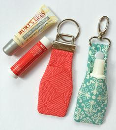 In the Hoop Chapstick Key Fobs Machine Embroidery Design Files created by EmbroideryGarden.com