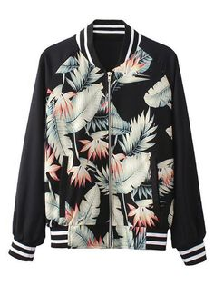 Nature leafs inspired bomber jacket! Wear it with a pair of Adidas gazelle for the geek chic touch!