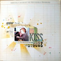 Kiss & love by Nine at Studio Calico, Love the use of the starburst mask.