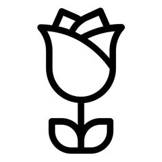 Rose - Free icon from IconBros Cute Easy Drawings, Cute Little Drawings, Cute Kawaii Drawings, Art Drawings For Kids, Art Drawings Sketches Simple, Emoji Drawings, Doodle Drawings, Disney Drawings, Simple Doodles