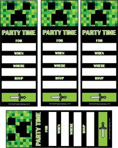 Minecraft Birthday Minecraft Party Printables Free On My Blog