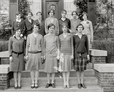 1927-Best. Year. Ever.   Gotta love the belts over the sweaters. Clearly there is nothing new under the sun.