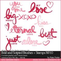 Bold and Scripted Brushes and Stamps No. 10- Katie Pertiet Brushes- DS792952- DesignerDigitals