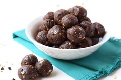 No Bake Chocolate Energy Bites - The perfect healthy, high protein, low sugar snack that tastes like dessert!