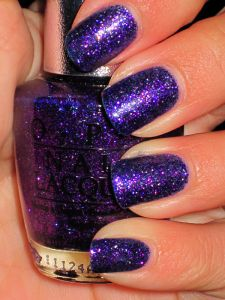 OPI DS Temptation. Love purple polishes and love glitter!
