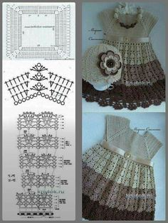 Discover thousands of images about Best 7 Utilissima raccolta di schemi per corpetti a uncinetto – SkillOfKing. Crochet Baby Dress Pattern, Crochet Fabric, Crochet Motifs, Baby Girl Crochet, Crochet Baby Clothes, Crochet For Kids, Crochet Patterns, Blackened Chicken Pasta, Diy Crafts Crochet