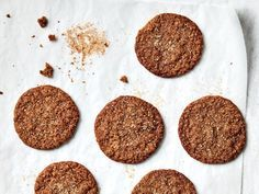 META: Powdered, candied, and fresh ginger gives these Triple-Ginger Rye Cookies extra flavor. Get the recipe at Food & Wine. Chocolate Mint Cookies, Cranberry Cookies, Ginger Cookies, Peanut Butter Cookies, Holiday Cookies, Sugar Cookies, Baking Cookies, Holiday Desserts, Food & Wine Magazine