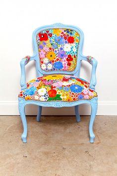 Pardon The Garden Reupholstered Vintage Chair