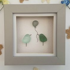 Sea glass birds silver wedding anniversary gift MADE TO ORDER gift for her wedding gift for mom birthday gift, mini frame 6 Gift Ideas 25 Wedding Anniversary Gifts, Beach Wedding Gifts, Unique Wedding Gifts, 25th Anniversary, Anniversary Ideas, Mum Birthday Gift, Creative Birthday Gifts, Sea Glass Crafts, Sea Glass Art