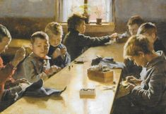 Albert Edelfelt's The Boys Workhouse, Helsinki Century European Painting. Oil on canvas from 1885 A4 Poster, Poster Prints, European Paintings, Scandinavian Art, Nordic Art, First Art, Illustrations, Vintage Artwork, Vincent Van Gogh