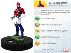 Captain Britain #068 Wolverine and the X-Men Marvel Heroclix - Wolverine & the X-Men Booster Set - Wolverine and the X-Men - HeroClix - Mini...