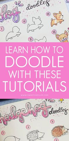 Learn How to Doodle With These Easy Tutorials - Beautiful Dawn Designs Simple Doodles, Cute Doodles, Bullet Journal Ideas Pages, Bullet Journal Inspiration, Bullet Journals, Doodle Drawings, Easy Drawings, Easy Doodle Art, How To Draw Doodles Easy