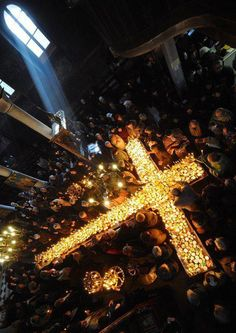 Orthodox Christians celebrating Easter in Jerusalem, Israel