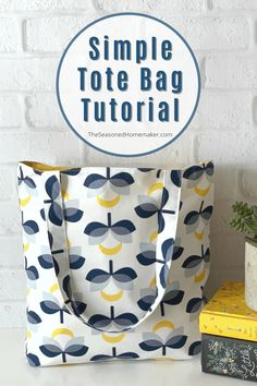 Small Sewing Projects, Sewing Projects For Beginners, Sewing Tutorials, Sewing Crafts, Tote Bag Tutorials, Beginner Sewing Patterns, Bag Patterns To Sew, Easy Tote Bag Pattern Free, Wallet Pattern