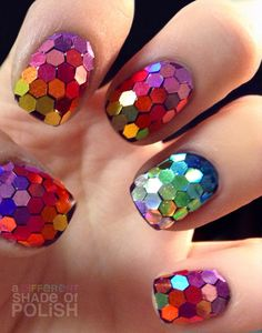I would never have the nerve to do this on my own nails but - so pretty to look at on someone else's!