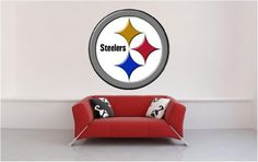 """Pittsburgh Steelers logo ... Wall Graphic Decal Home Room Decor Sticker 36"""" by FatCat Wall Graphics, http://www.amazon.com/dp/B004ZG9ESY/ref=cm_sw_r_pi_dp_QmnAqb1749C3J"""