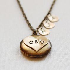 Family Tree Locket  Heart Family Necklace  by VivaRevival on Etsy, $41.50