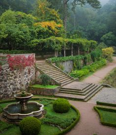 The Bussaco Palace -The monks not only built a convent but also created a luxurious garden with many species of trees, representing Earthly Paradise