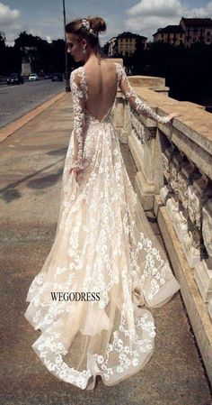 Long Sleeve Wedding Dress blush long sleeve backless lace tulle wedding dress, blush wedding dress, most beautiful blush wedding dress-ALESSANDRARINAUDO TRISHA 2016 2016 Wedding Dresses, Wedding Attire, Bridal Dresses, Wedding Gowns, Dresses 2016, Tulle Wedding, Dresses Dresses, Mermaid Wedding, Backless Wedding