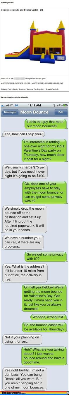 The Moon Bounce   Community Post: Pranking People Through Text