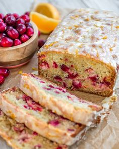 Super moist orange cranberry bread from @sprinklesomesug is studded with juicy cranberries and topped with a sweet, fresh orange glaze. This super simple quick bread bread bakes up soft, moist and extremely flavorful. #quickbread #orangecranberry #holidaybaking