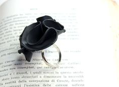 ring made from upcycled inner tube by Nokike http://www.etsy.com/shop/Nokike/ #accessories #repurposed  #rubber #recycled