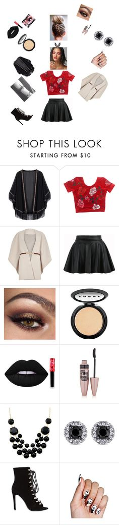 """""""Ferila 4"""" by contactlensvision ❤ liked on Polyvore featuring River Island, LORAC, Lime Crime and Maybelline"""